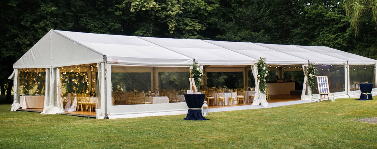 Wedding event space tent